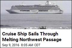 Cruise Ship Sails Through Melting Northwest Passage