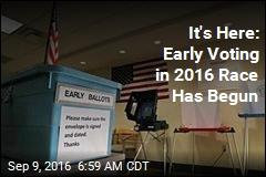 It's Here: Early Voting in 2016 Race Has Begun