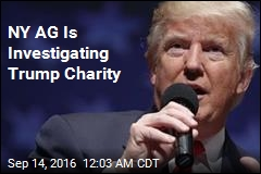 NY AG Is Investigating Trump Charity