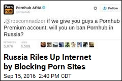 Russia Riles Up Internet by Blocking Porn Sites