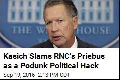 Kasich Slams RNC's Priebus as a Podunk Political Hack