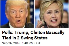 Polls: Trump, Clinton Basically Tied in 2 Swing States