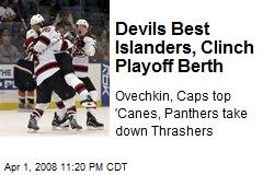 Devils Best Islanders, Clinch Playoff Berth
