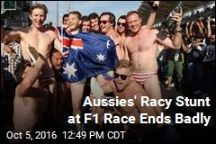 Aussies' Racy Stunt at F1 Race Ends Badly