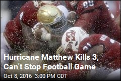NC State Hosts Football Game in a Hurricane