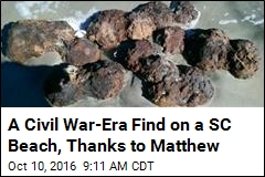 A Civil War-Era Find on a SC Beach, Thanks to Matthew