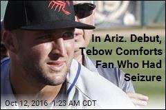Tebow Comforts Ill Fan in Arizona League Debut