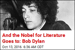 And the Nobel for Literature Goes to: Bob Dylan