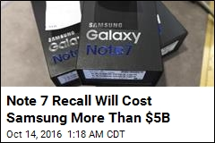 Note 7 Recall Will Cost Samsung More Than $5B