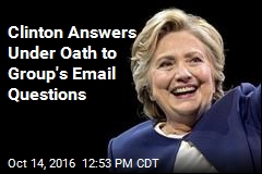 Clinton Can't Recall Much in Answers to Email Questions
