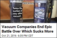 Vacuum Companies End Epic Battle Over Which Sucks More