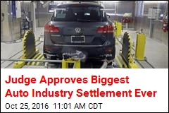 US Judge Signs Off on $14.7B VW Settlement