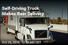 Self-Driving Truck Makes Beer Delivery