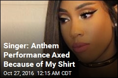 Singer: Anthem Performance Was Axed Because of My Shirt