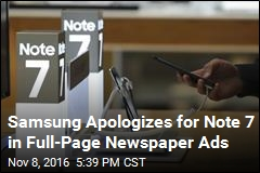 Samsung Apologizes for Note 7 in Full-Page Newspaper Ads