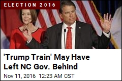 'Trump Train' May Have Left NC Gov. Behind