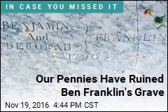 Ben Franklin's Gravestone Needs Your Pennies