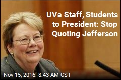 UVa Staff, Students to President: Stop Quoting Jefferson