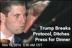 Trump Breaks Protocol, Ditches Press
