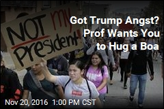 Got Trump Angst? Prof Wants You to Hug a Boa