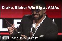 Drake, Bieber Win Big at AMAs