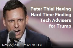 Peter Thiel Having Hard Time Finding Tech Advisers for Trump