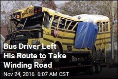 Bus Driver Left His Route to Take Winding Road