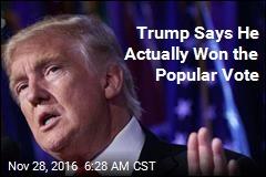 'Millions' of Illegal Voters Cost Trump Popular Vote, Says Trump