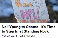 Neil Young to Obama: It's Time to Step In at Standing Rock
