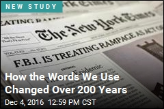How the Words We Use Changed Over 200 Years