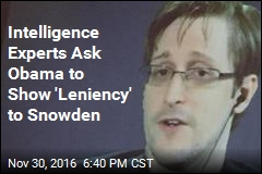 Intelligence Experts Ask Obama to Show 'Leniency' to Snowden