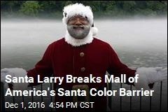Santa Larry Breaks Mall of America's Santa Color Barrier