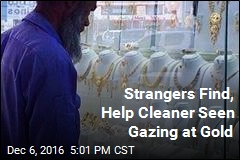 Strangers Find, Help Cleaner Seen Gazing at Gold