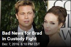 Bad News for Brad in Custody Fight