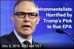 Trump's EPA Pick Is Suing the EPA