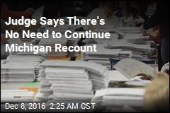 Judge Halts Michigan Recount