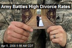 Army Battles High Divorce Rates