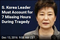 S. Korea Leader Must Account for 7 Missing Hours During Tragedy