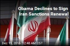 Obama Declines to Sign Iran Sanctions Renewal