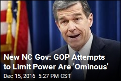 Gov-Elect on NC Republicans: 'They Will See Me in Court'
