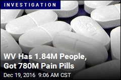 WV Has 1.84M People, Got 780M Pain Pills