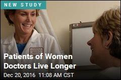 Patients of Women Doctors Live Longer
