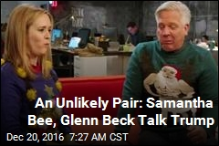 Bee, Beck Don Ugly Christmas Sweaters, Bond Over Trump