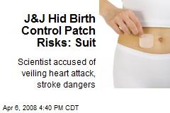 J&J Hid Birth Control Patch Risks: Suit
