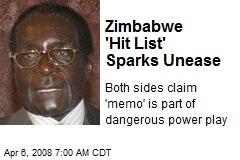 Zimbabwe 'Hit List' Sparks Unease