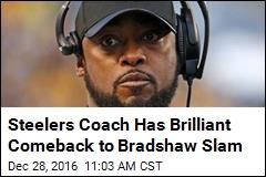Steelers Coach Has Brilliant Comeback to Bradshaw Slam