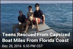 Teens Rescued From Capsized Boat Miles From Florida Coast