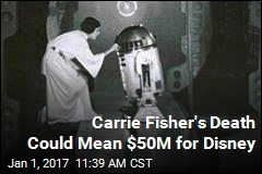 Carrie Fisher's Death Could Mean $50M for Disney