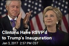 Clinton Will Attend Trump's Inauguration