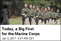 For 1st Time, Female Marines in Ground Infantry Unit